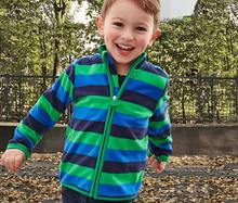 Warm Striped Soft Polar Fleece Child Coat Baby Boys Jackets Windproof Children Outerwear Clothing Kids Outfits For 1-6 Years Old цены