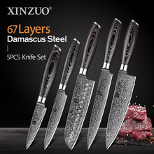 Knives-Set Paring-Knife Cleaver Chef Damascus-Steel Utility Kitchen Santoku XINZUO 10-Japan