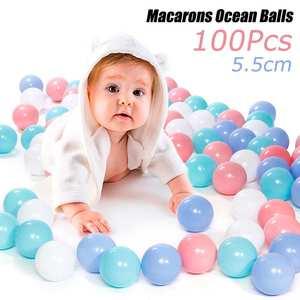 100pcs 5.5cm/7cm Balls Pool Balls Soft Plastic Ocean Ball For Playpen Colorful Soft Stress Air Juggling balls Sensory Baby Toy