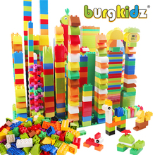 BURGKIDZ 277PCS Duploed 빌딩 블록과 호환 동물 클래식 도시 벽돌 Consturction 교육 완구 어린이를위한