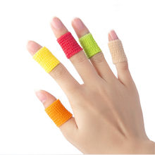 Cor sólida estudante escrita dedo guarda esportes auto-adesivo bandagem dedo fita anti-wear artefato calo polegar junta capa