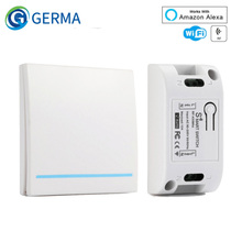 GERMA RF Wifi 스위치 RF 433MHz 10A/2200W 무선 스위치 86 유형 ON/Off 스위치 패널 433MHz RF WiFi 원격 제어 송신기