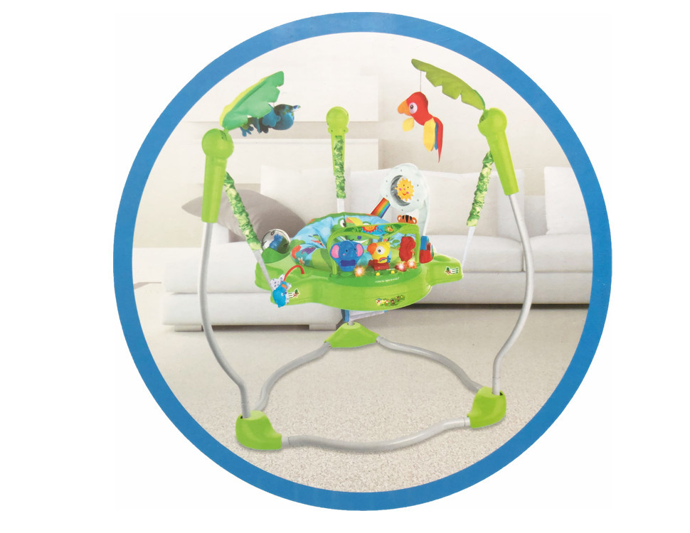 Hf15a4aba00fc41ad8d93e7e1509f33afI Multifunctional Electric Baby Jumping Walker Cradle Rainforest Baby Swing Body-building Rocking Chair Lucky Child Swing 3 M~2 Y