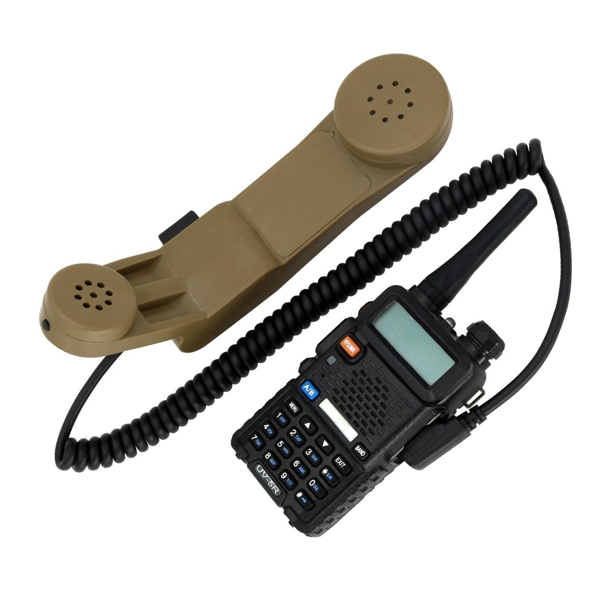 Купить с кэшбэком H250 Tactical Headphones Interphone Adapter Military Handheld Speaker Microphone PTT Kenwood Intercom Microphone  DE