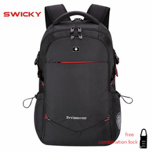 SWICKY male men Multifunction USB charging fashion business casual tourist anti theft waterproof 15.6 inch Laptop backpack