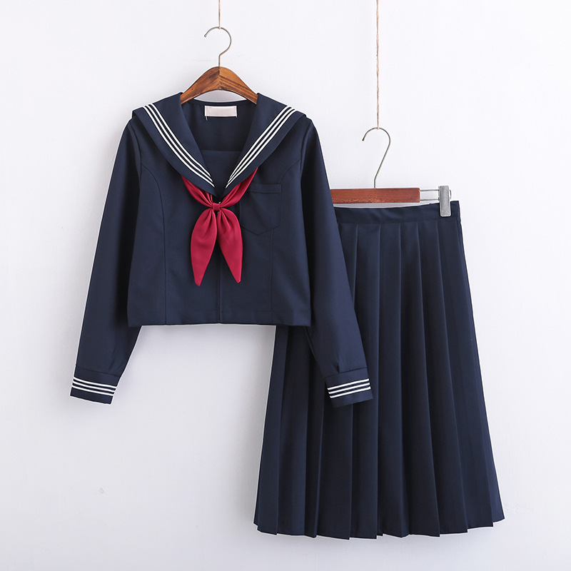 Women JK High School Uniforms Students Girls Harajuku Preppy Style High Waist Plus Size Short Pleated Skirt  5XL
