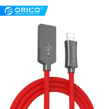 ORICO LTU Lightning USB Cable for iPhone Cable 2.4A Fast Charging Cable Type-c Data line for iPhone 6 Huawei Samsung Xiaomi pofan p11 lightning charging data cable line silver
