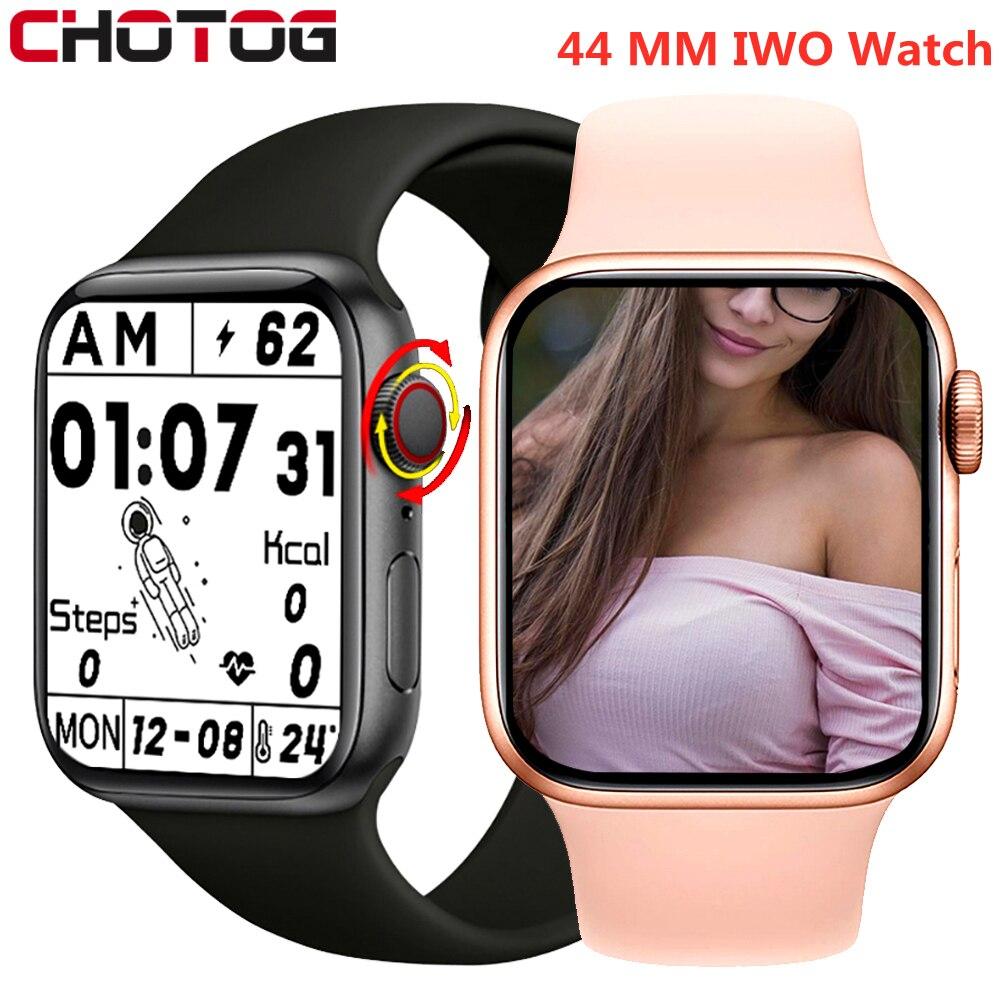 Смарт-часы IWO для мужчин и женщин, часы с Bluetooth, монитором сердечного ритма и функцией воспроизведения музыки, 2021 дюйма, для Iphone, Xiaomi, Huawei, 1,75
