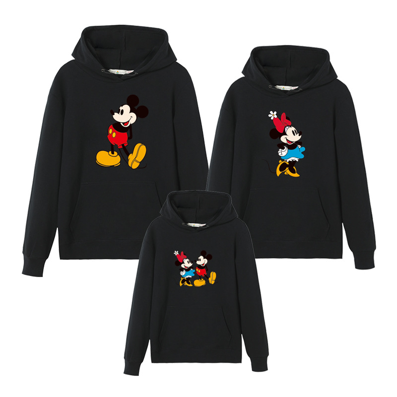 Christmas Clothes Mommy And Me Clothes Mickey Hoodies Couples Matching Clothing Minnie Hooded Sweatshirt Dad Son Family Look
