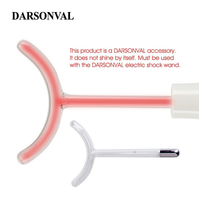 DARSONVAL 1Pcs High Frequency Facial Machine Y Model Glass Tube Electrode Nozzles Glass Skin Orange Ray Facial Beauty Devices