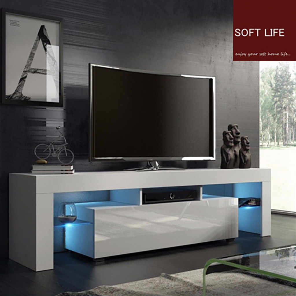 Modern Led Tv Stand Cabinet Living Room Furniture Fit For Up To 50inch Tv Screens High Capacity Tv Console For Living Room 3 Aliexpress