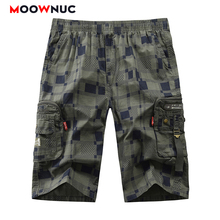 Shorts Pants Pockets Trousers Plaid New Summer Hombre Knee Length Fit MOOWNUC Fashion Male 2020 Solid Street Dress Casual  Mens plaid knee length casual mens shorts