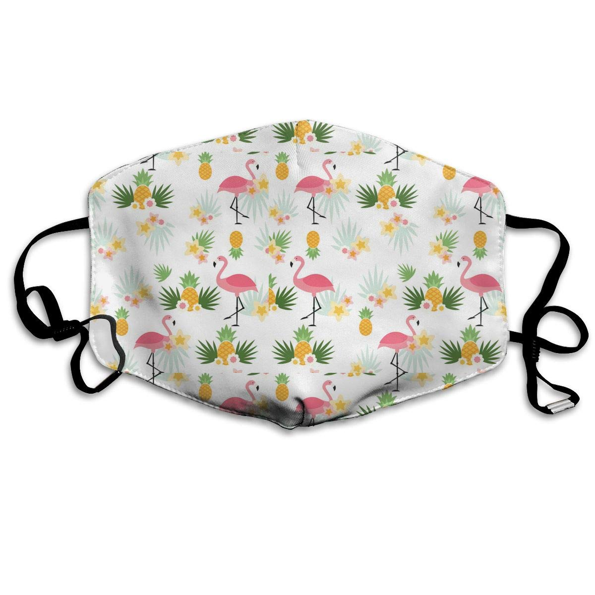 Mouth Mask Flamingos And Pineapples Print Masks - Breathable Adjustable Windproof Mouth-Muffle, Camping Running For Women And