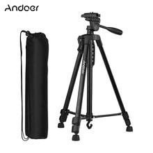 Trípode de fotografía Andoer CZ RU, bolsa de transporte, soporte de teléfono para cámara Canon Sony Nikon DSLR para iPhone Huawei Smartphone