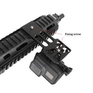 Image 4 - CNC Aluminum Gun Side Rail Smartphone Adapter Holder Mount for Gopro Hero 8 7 6 5 SJCAM Yi 4K SONY Action Camera Accessories Set