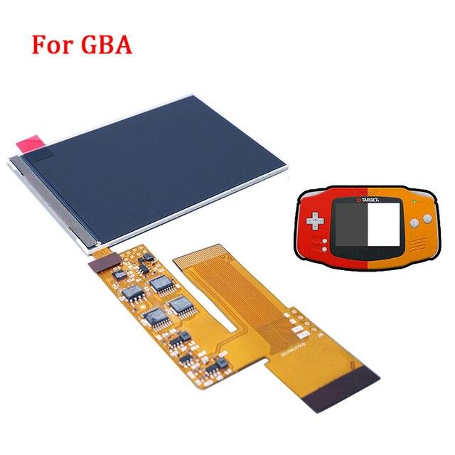 LCD V2 ekran değiştirme kitleri nintendo GBA arkadan aydınlatmalı lcd ekran 10 seviyeleri yüksek parlaklık IPS LCD V2 ekran için GBA konsol