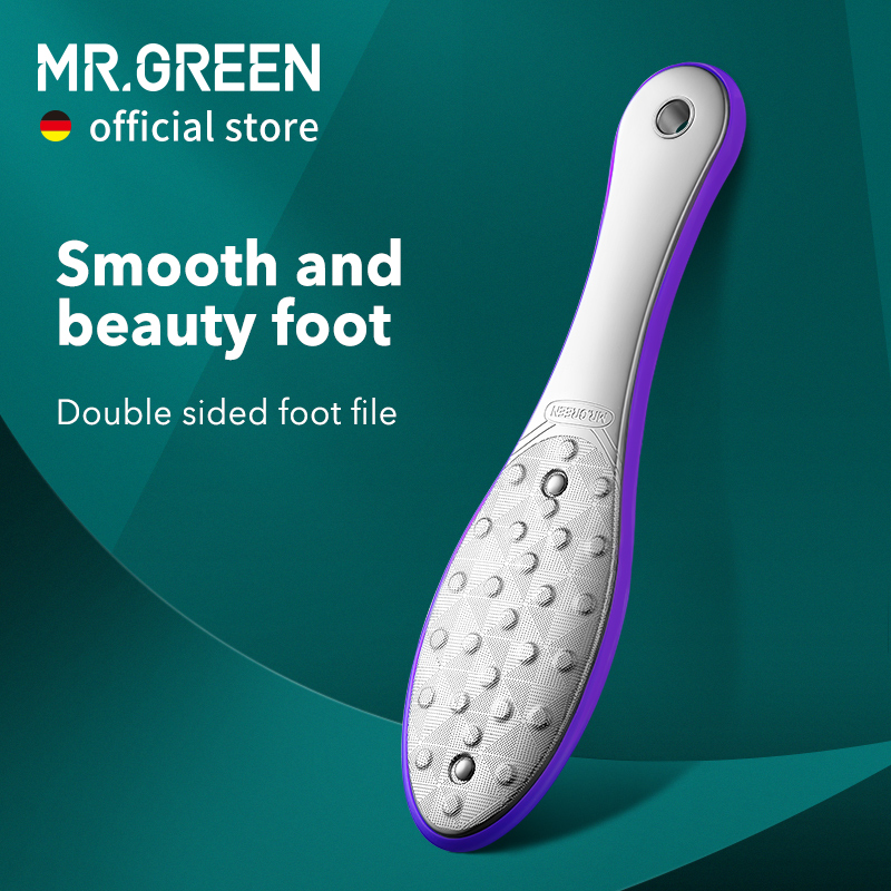 MR.GREEN Pedicure Foot Care Tools Foot File Rasps Callus Dead Skin Remover Professional Stainless Steel Double Sides Files