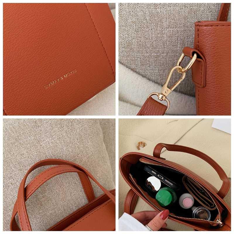 Basit Pu kadınlar için Crossbody çanta yüksek kapasiteli katı kadın çantalar ve çanta moda tasarımı omuz askılı çanta bayan Tote