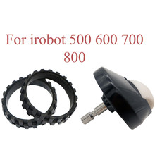 Wheel Tires and Front Casters for IROBOT ROOMBA 500 600 700 800 900 Robot Vacuum Cleaner IROBOT 560 620 780 Replacement Parts
