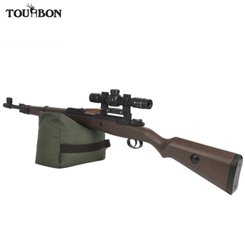 Tourbon Tactical Hunting Firearm Rifle Shooting Rest Bench Front Rear Gun Bag Canvas Pouch Unfilled Accessories