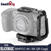 SmallRig BMPCC 4K Quick Release Camera Cage Half Cage for Blackmagic Design Pocket Cinema Camera 4K/6K W/ Manfrotto 501PL plate smallrig left side plate for red scarlet w epic w raven weapon 1847