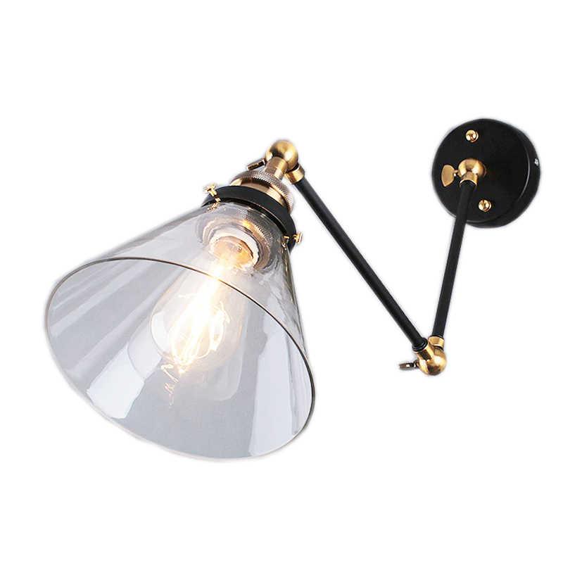 Retro Loft Style Industri Vintage Lampu Dinding Lancip Logam Dison Lengan Panjang Lampu Dinding Sconce Lamparas De Dikupas