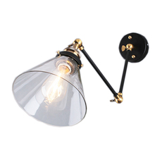 цена на Retro Loft Style Industrial Vintage Wall Light Lamp Taper Metal, Edison Wall Sconce Lamparas De Pared