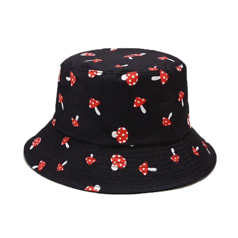 Summer Printed Reversible Bucket Hats Men Outdoor Hip-Hop Sun Fisherman Cap Fashion Street Beach Bob Women Pananma Hat