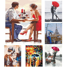 DIY oil painting by numbers adults canvas lovers wedding gift Oil Painting Poster Colorful Posters Home Decoration