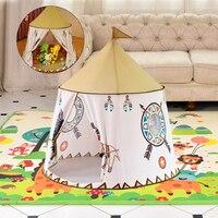 Tente pour enfants pour enfants princesse jouer maison Wigwam Castle Portable tipi enfants présent accrocher drapeau tente chambre d'enfants jeu jouets