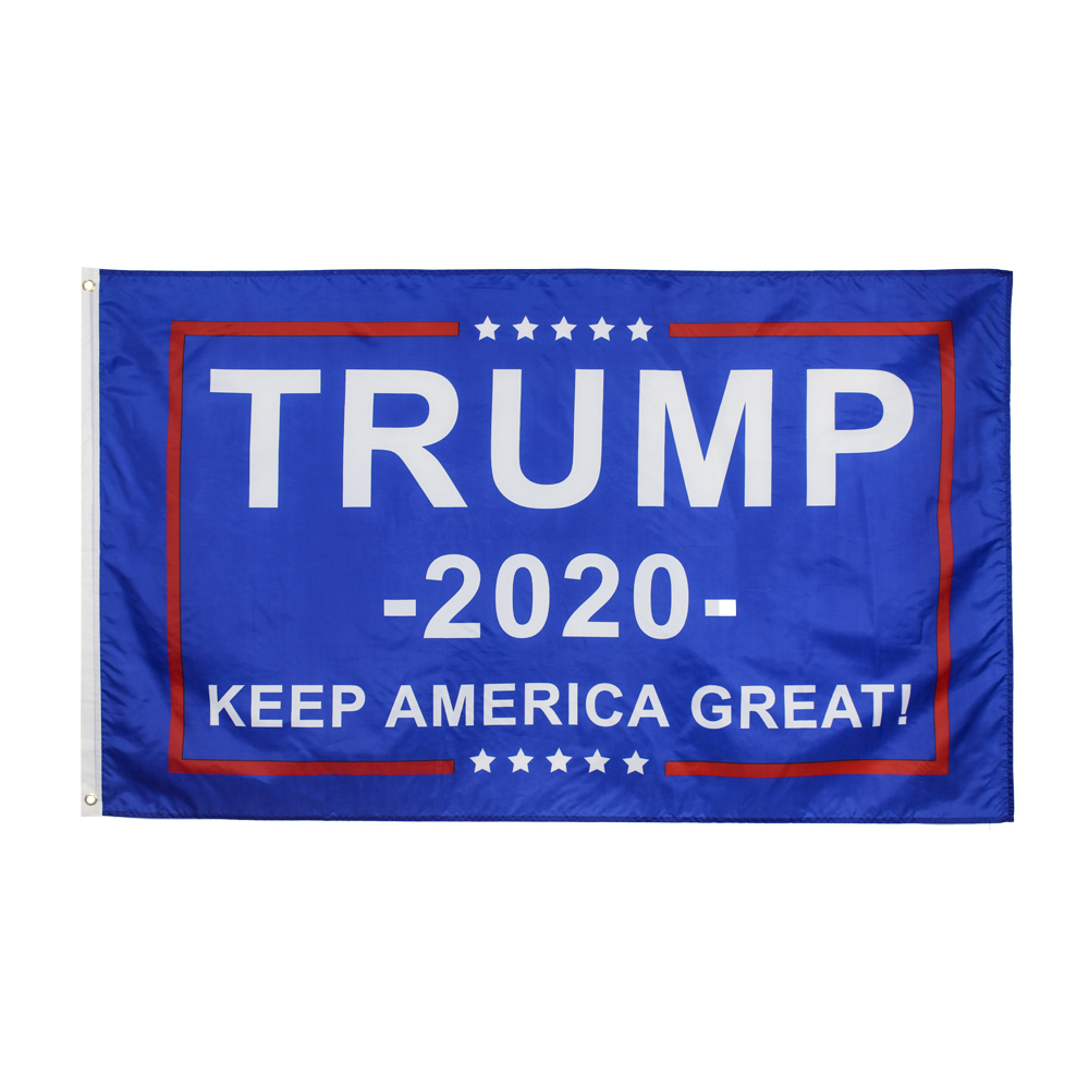 90*150cm KEEP AMERICA GREAT Blue Blue background white 2020 Trump <font><b>KAG</b></font> Flag image