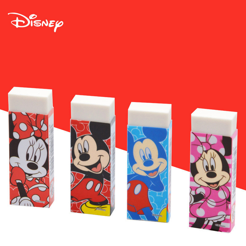1 Pc Disney Cartoon Character Cute Stationery Erasers For Kids Mickey Minnie Student School Supplies Cute Gift