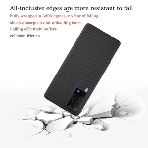 Image 3 - Ytf Carbon Carbon Fiber Telefoon Case Voor Vivo X60 Pro 5G Aramid Fiber Ultra Dunne Anti vallen Business Cover X60 Pro Shell