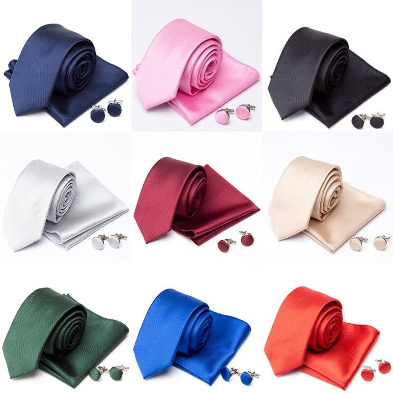 Homens Gravata Gravata Abotoaduras Conjunto Borboleta Moda Laços para Homens Lenço Vermelho Sólido Homem de Partido Gravata Do Presente de Casamento Acessórios