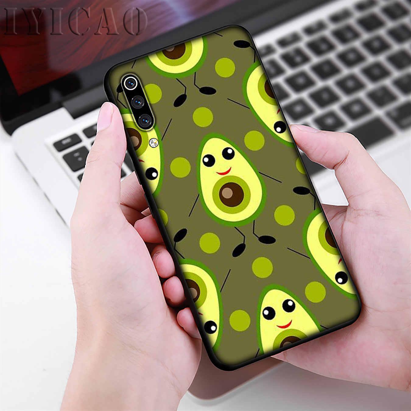 IYICAO Liefhebbers Druif Fruit Art Avocado Zachte Telefoon Case voor Xiao mi mi 9 9 t A3 PRO CC9 CC9E 8 A2 Lite A1 6 6X 5X pocophone f1 MAX 3