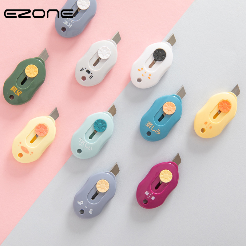 EZONE Office Cutting Knife Mini Portable Art Knife Paper Knife Simple Scalable Knife Courier Knife Office Cutting Stationery