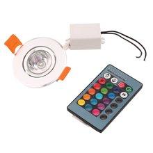 3Вт RGB светодиодный встраиваемый потолочный светильник прожектор светильник лампа не содержит УФ или ИК-излучения света простота установки и эксплуатации