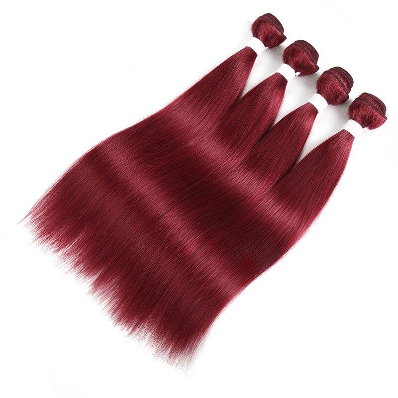 Cabelo humano brasileiro em linha reta tecer pacote 99j 27 30 burg vermelho 613 loira barato remy trama do cabelo extensão para as mulheres duplo desenhado
