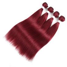 Прямые бразильские человеческие волосы, ткацкий пучок 99J 27 30 Red Burg 613 светлый цвет, дневное наращивание, для женщин, двойное натяжение