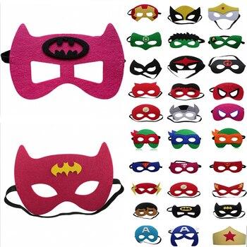Super héroe Cosplay máscara Halloween fiesta vestido disfraz máscara niños cumpleaños fiesta Super héroe Favor regalos envío gratis
