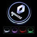 2X Led Car Logo Cup lights For Renault Megane 3 Logan Duster light Luminous Coaster Drinks Holders Accessories Atmosphere lamp|Anti-Slip Mat| |  -