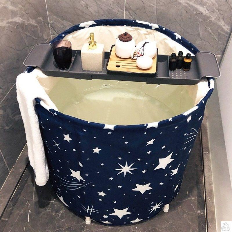 Foldable Baby Bathtub Shower Bathroom Inflatable Thick Portable Bathtub Bucket Adult Home Bathtub Adult Bathroom Products DG50YP