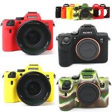 シリコーンアーマースキンカバープロテクターケースカメラ本体カバーソニーA7 iii/A7R iii/A7M3 A7RM3 / A7R iv a7RM4/A7 ii A7R ii A7S ii