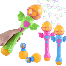 Automatic Bubble Machine Kid Toy Girl Magic Wand Party Cute