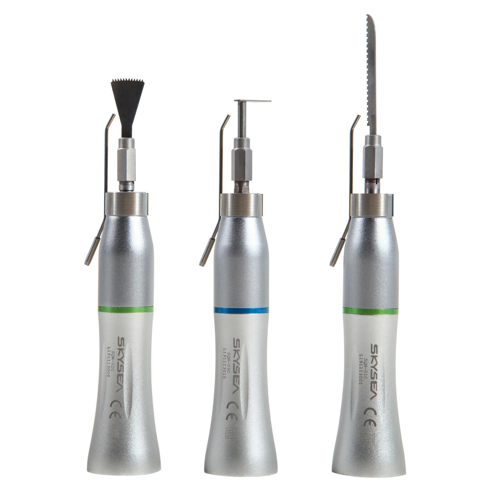 Dental Micro 1:1/4:1 Surgical 3°/17° Saw Surgical Straight Low Speed  Handpiece Oscillating Reciprocating