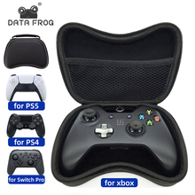 Données grenouille EVA dur manette poignée étui de transport pour PS5/Xbox One 360/PS4 stockage sac de protection pour Nintendo Switch Pro/PS3 manette