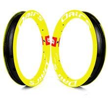 12in カーボン自転車リム 30 × 25 ミリメートル 12 インチ子供自転車リム 84 ミリメートル 95 ミリメートル 12 インチカーボンホイールバランスバイク 100 グラム蛍光黄色