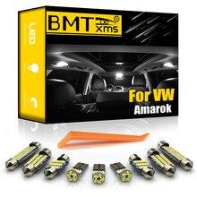 BMTxms 7 Pièces Pour Volkswagen VW Amarok 2010-2017 Canbus Voiture LED Carte Intérieure Dôme Lumière Kit Véhicule Accessoires De Lampe