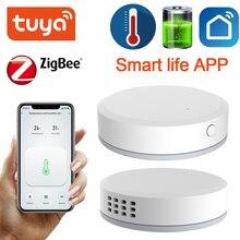 Tuya ZigBee Mini sıcaklık nem sensörü dahili pil akıllı yaşam APP akıllı ev bina otomasyon LCD ekran
