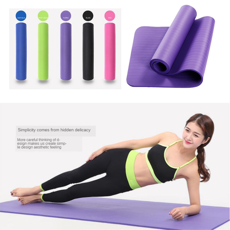 183*61*1cm&1.5cm Thickess Non-Slip Yoga Mat Foldable Soft Pilates Mats Pads Sport Gym Body Building Fitness Exercises Equipment